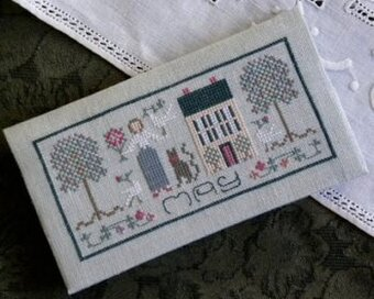 Pocket Calendar Cover - May - Cross Stitch Pattern