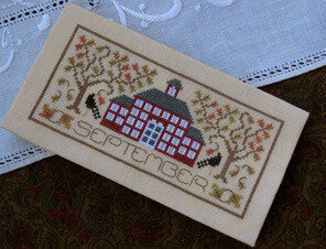 Pocket Calendar Cover - September - Cross Stitch Pattern