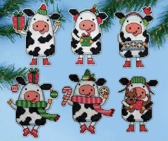 Christmas Cows - Cross Stitch Kit