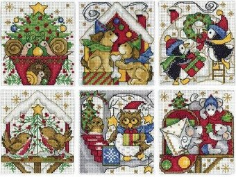 Home For Christmas Ornaments - Cross Stitch Kit