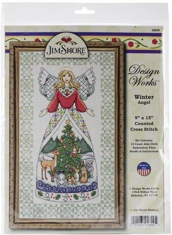 Jim Shore Winter Angel - Cross Stitch Kit