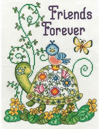 Friends Forever Turtle - Cross Stitch Kit