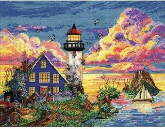 Lighthouse Sunset - Cross Stitch Kit