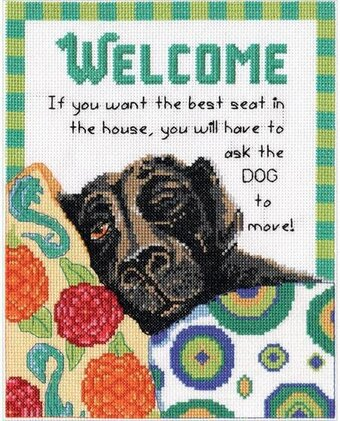 Best Seat Welcome - Cross Stitch Kit