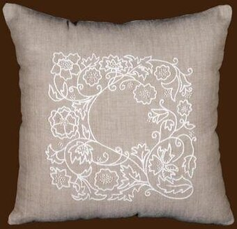 Design Works Romance Vine Pillow Cover Candlewicking