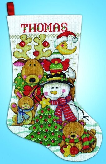 Making New Friends Christmas Stocking - Cross Stitch Kit