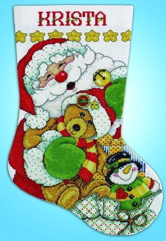 Santa Christmas Stocking - Cross Stitch Kit