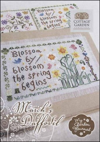 March's Daffodil - My Garden Journal - Cross Stitch Pattern