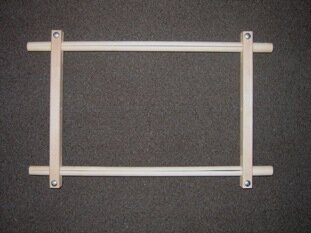 "Split Rail Scroll Frame - 8.5"" x 18"""