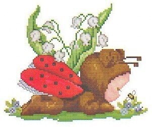 Ladybug Baby - Cross Stitch Pattern