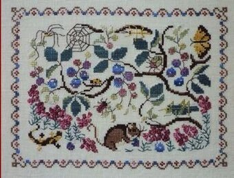 Blackberry Plant - Cross Stitch Pattern