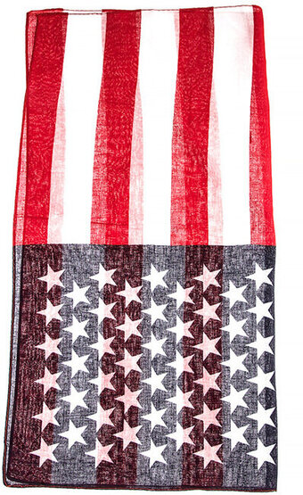 Thin American Flag Pattern Square Scarf