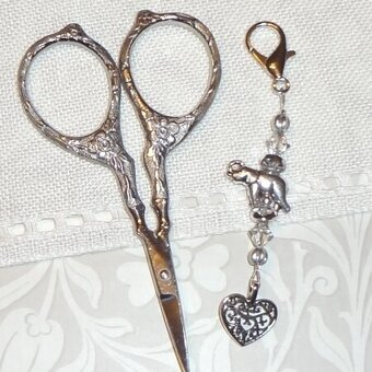 Elephant Dance Scissors Fob