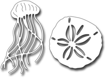 Frantic Stamper Die - Sand Dollar and Jellyfish