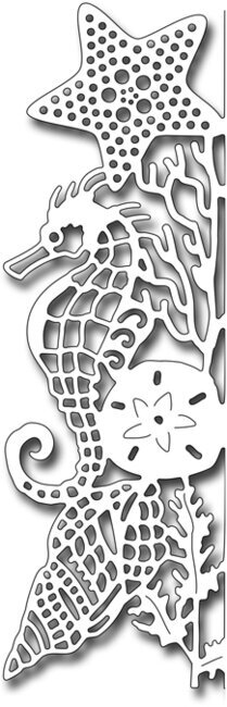 Seahorse Edger Facing Left - Frantic Stamper Craft Die