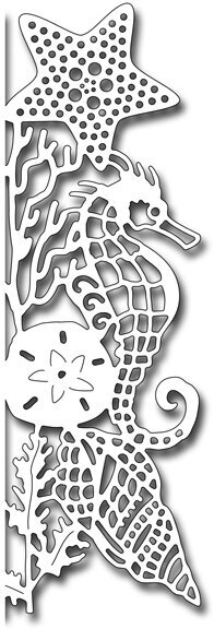Frantic Stamper Die - Seahorse Edger Facing Right