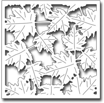Frantic Stamper Dies - Blowing Leaves Square
