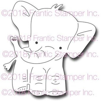 Frantic Stamper Dies - Elmer the Elephant