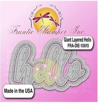 Giant Layered Hello - Frantic Stamper Craft Die