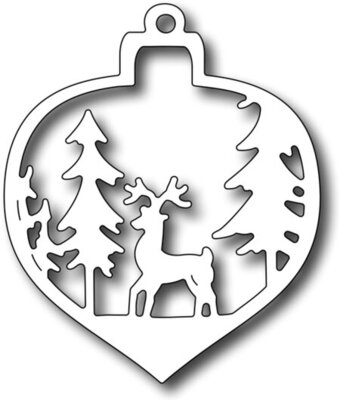 Frantic Stamper Precision Dies - Deer Christmas Bauble