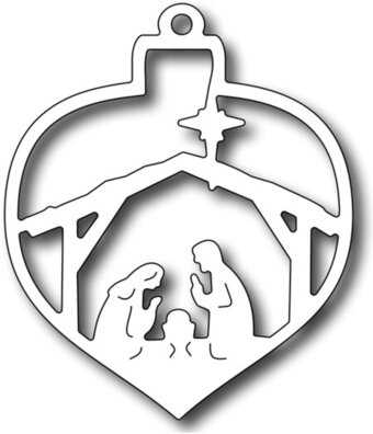 Nativity Christmas Bauble - Frantic Stamper Craft Dies
