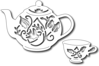Frantic Stamper Precision Dies - Tea set (set of 2 dies)