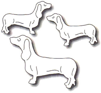 Frantic Stamper Precision Dies - Three Dachshunds