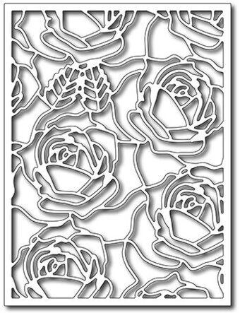 Frantic Stamper Precision Dies - Blooming Roses Card Panel