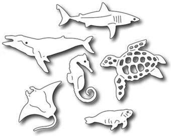 Frantic Stamper Precision Dies - Sea Creatures Icons
