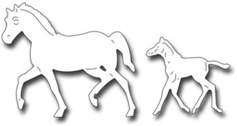 Frantic Stamper Precision Die - Mare and Foal