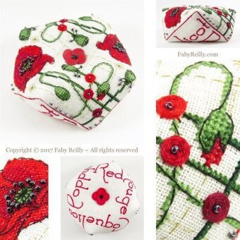 Poppy Biscornu - Cross Stitch Pattern