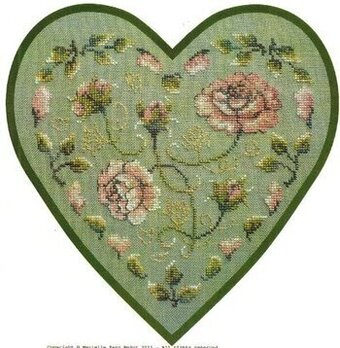 Rose Coeur - Cross Stitch Pattern