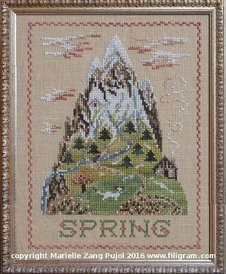 Spring Mountain - Cross Stitch Pattern