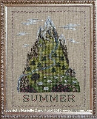 Summer Mountain - Cross Stitch Pattern
