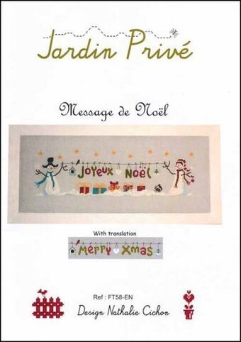Message De Noel - Cross Stitch Pattern