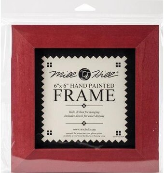mill hill 6 x 6 holiday red frame 123stitchcom