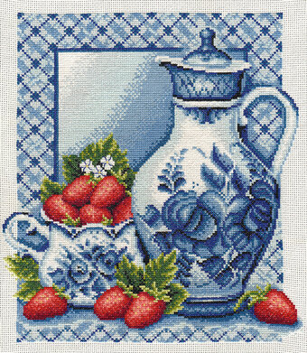 Strawberries and Cream - Cross Stitch Kit