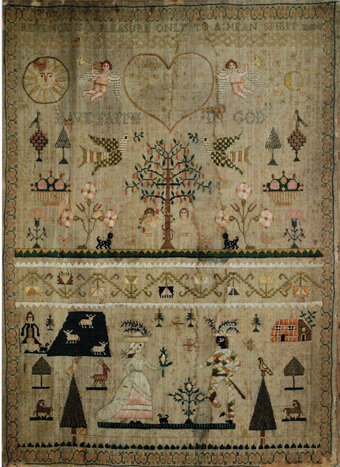 The Morris Dancer - Adapted Maria Cooper Sampler 1790
