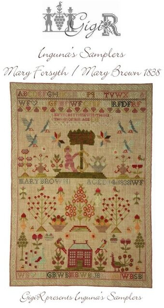 Mary Forsyth/Mary Brown 1838 - Cross Stitch Pattern
