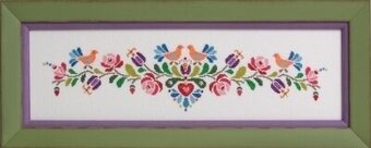 Hungarian Folk Art No. Two - Cross Stitch Pattern