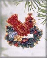 Christmas Nest 2003 - Beaded Cross Stitch Kit