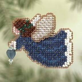 Indigo Angel - Beaded Cross Stitch Kit