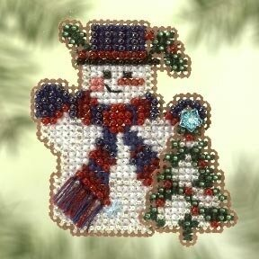 Frosty Fir 2005 - Beaded Cross Stitch Kit