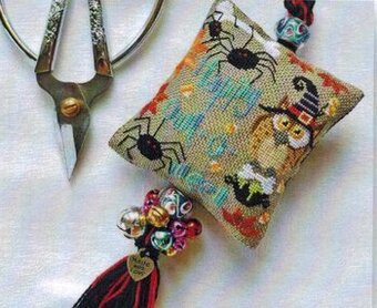 Owl-o-ween Scissor Fob - Cross Stitch Pattern