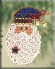Kris Kringle 2001 - Beaded Cross Stitch Kit