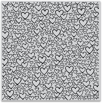 Bursting with Love Bold Prints - Background Cling Stamp