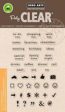 To Do List - Clear Stamp