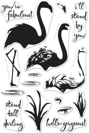 Color Layering Flamingo - Clear Stamp