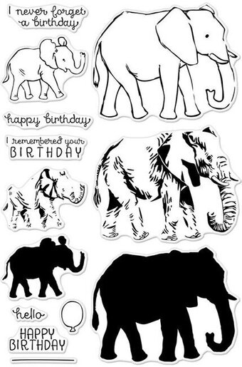 Color Layering Elephant - Clear Stamp