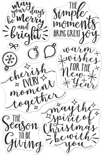 Merry and Bright Messages - Christmas Clear Stamp